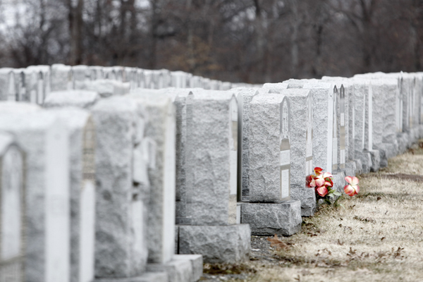 A view of headstones inside the Gate of Heaven Cemetery in East Hanover, N.J. A lawsuit alleged that  Catholic Cemeteries in the Archdiocese of Newark illegally sell headstones and private mausoleums, then don't pay required tax on them. Photo courtesy of Aristide Economopoulos/The Star-Ledger