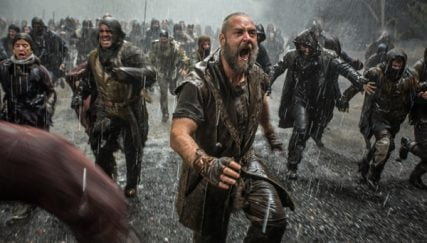 """Russell Crowe (foreground) is Noah in """"Noah"""", from Paramount Pictures and Regency Enterprises. Photo by Niko Tavernise, courtesy of Grace Hill Media"""