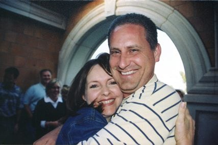 Steve Green and his wife at a surprise 40th birthday party for Steve. Photo courtesy of Green family