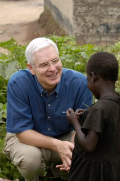 Richard Stearns, seen here during a visit to Zambia, is the U.S. President of World Vision. Religion News Service photo courtesy of Jon Warren/World Vision.