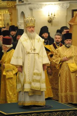 Metropolitan Kirill was elected on Jan. 27, 2009 as the patriarch of the Russian Orthodox Church.   Photo courtesy of Moscow Patriarchate