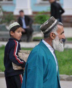 People in Dushanbe, the capital of Tajikistan.