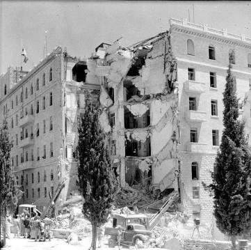Irgun terrorism, King David bombing.