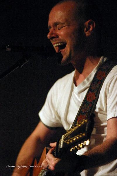Derek Webb performs during a concert at Ecclesia Church in Houston, Texas.