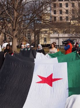 Syrian protest at Lafayette Square in Washington, D.C., in March 2014.