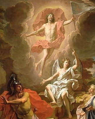 The resurrection of Christ, painted by Noel Coypel in 1700.