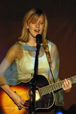 Sandra McCracken in concert at Ecclesia Church in Houston, Texas.