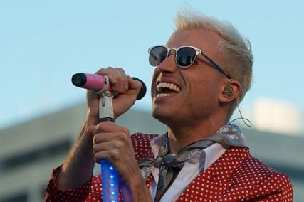 Tyler Glenn of Neon Trees performs during the Apple Worldwide Developers Conference Bash in 2012.