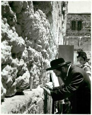 (Date unknown) Jews pray at the Western Wall in Jerusalem. Religion News Service file photo
