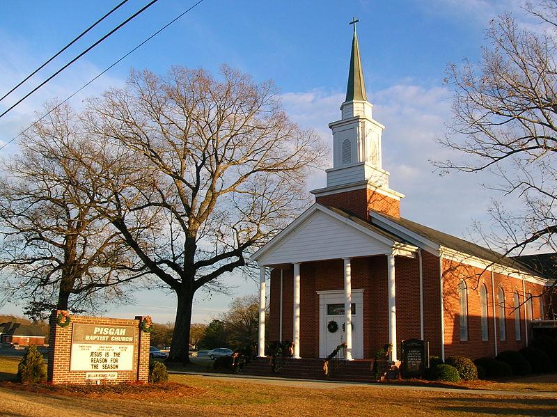 Pisgah Baptist Church in Four Oaks, N.C.