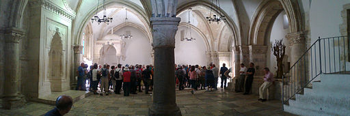 A panoramic view of the Cenacle in Jerusalem.