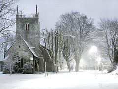 St. Mary's Church in a blizzard - photo courtesy of LHG Creative Photography via Flickr