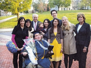 Eyal Sherman with his family is after his SU graduation in 2009. Photo courtesy of Charles S. Sherman