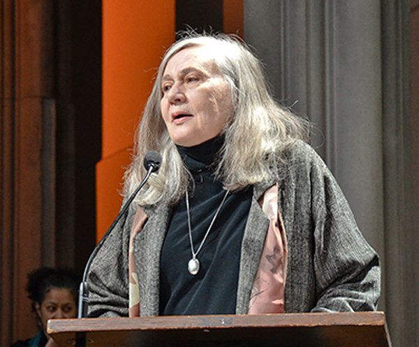 Pulitzer-prize winning author Marilynne Robinson spoke at Union Seminary in March 2014. Photo by Kristen Scharold
