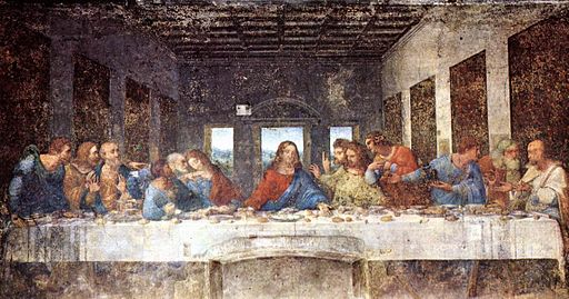 "Leonardo da Vinci's ""The Last Supper"" painting."