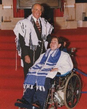 Rabbi Charles S. Sherman of Temple Adath Yeshurun with his son, Eyal Sherman. Photo courtesy of Charles S. Sherman