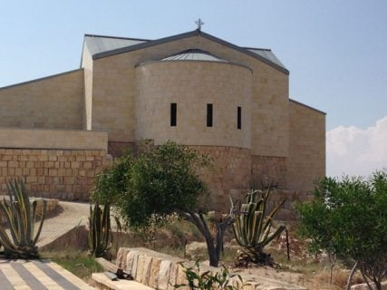 A view of Church at Mount Nebo in Jordan. Photo by Dale Hanson Bourke