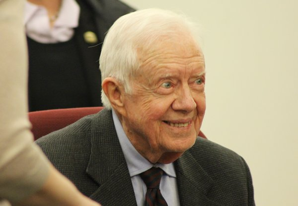 "Former President Jimmy Carter during a book signing at The Washington Post on March 26, 2014 for his new book, ""A Call to Action: Women, Religion, Violence and Power."" Religion News Service photo by Adelle M. Banks"