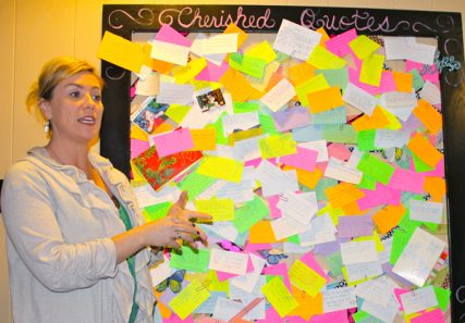 """Polly Wright, a former topless dancer, leads """"We Are Cherished,"""" a Texas-based nonprofit that visits adult entertainment establishments to deliver gifts and tell women that they are """"loved, valued and cherished.""""  Religion News Service photo by Bobby Ross Jr."""