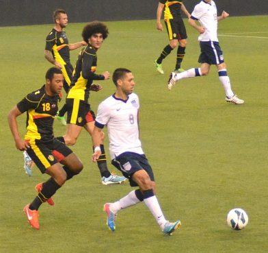 Belgium midfielders Marouane Fellaini and Mousa Dembélé are Muslim. Photo by Erik Drost.