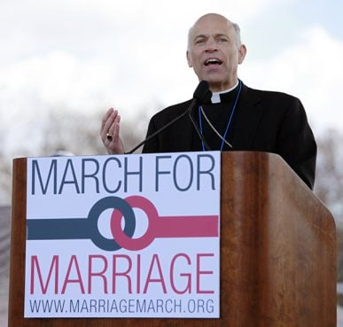 San Francisco's Archbishop Salvatore Cordileone speaks at the 2013 March for Marriage event in Washington, D.C.
