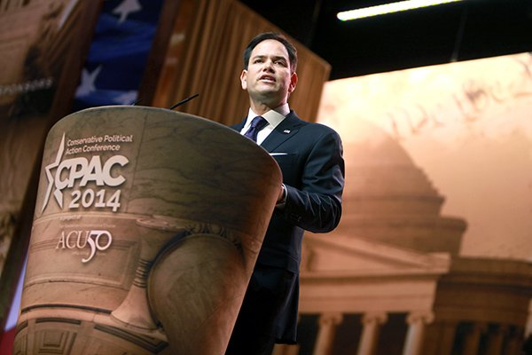 Senator Marco Rubio, R-Fla., speaks at the 2014 Conservative Political Action Conference in National Harbor, Md.