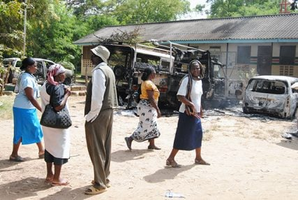 A government office in Mpeketoni, Kenya, was raided by attackers during the recent violence that left about 60 dead.