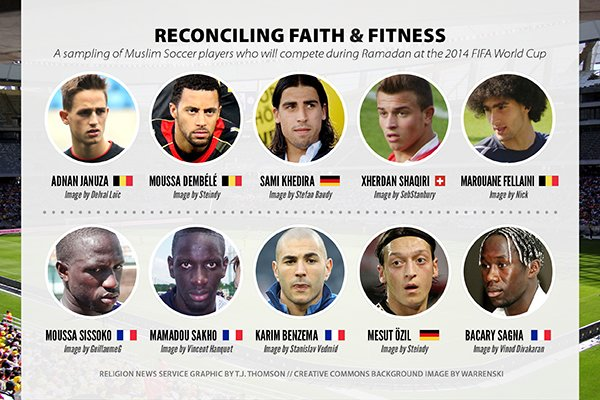 For the first time since 1986, Ramadan and the World Cup will coincide. Prohibitions, such as refraining from eating or drinking during the day, present a special challenge to Muslims competing in the competition.