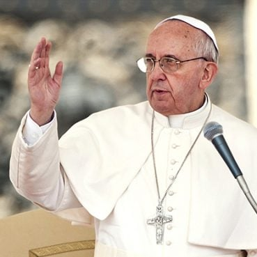 Pope Francis linked war and capitalism together in remarks made to La Vanguardia in June 2014. Creative Commons image by Catholic Church England and Wales