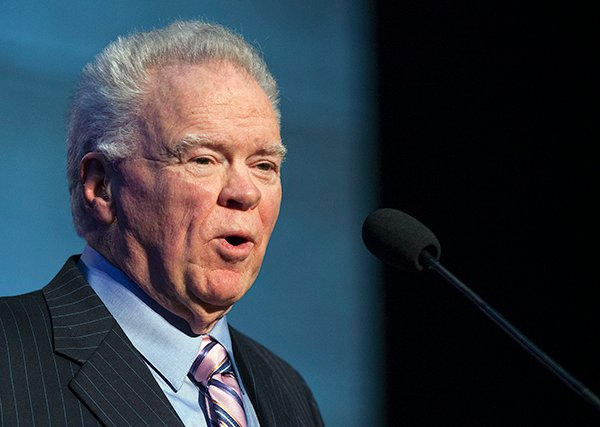 Paige Patterson, president of Southwestern Baptist Theological Seminary in Fort Worth, Texas, gives a report to attendees at the Southern Baptist Convention's annual meeting on June 11, 2014.