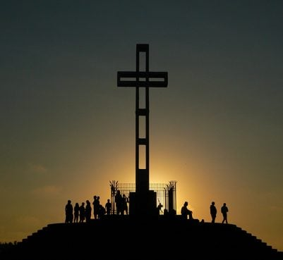 The Mt. Soledad cross was installed in 1954. It rises 29 feet and its arms span 12 feet.
