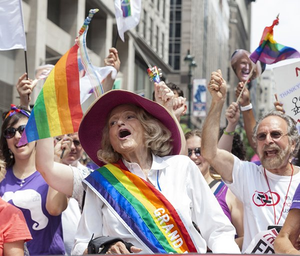 Same-sex marriage pioneer Edie Windsor served as the grand marshal for the 43rd annual Pride Parade in Manhattan.