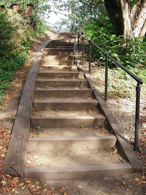 Steps leading to Parkland walk - photo courtesy of Denni Schnapp via Flickr