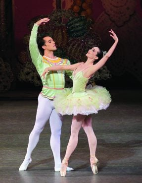 "Jenifer Ringer and Jared Angle perform during ""The Nutcracker"" with the New York City Ballet. Photo courtesy of ©Paul Kolnik"