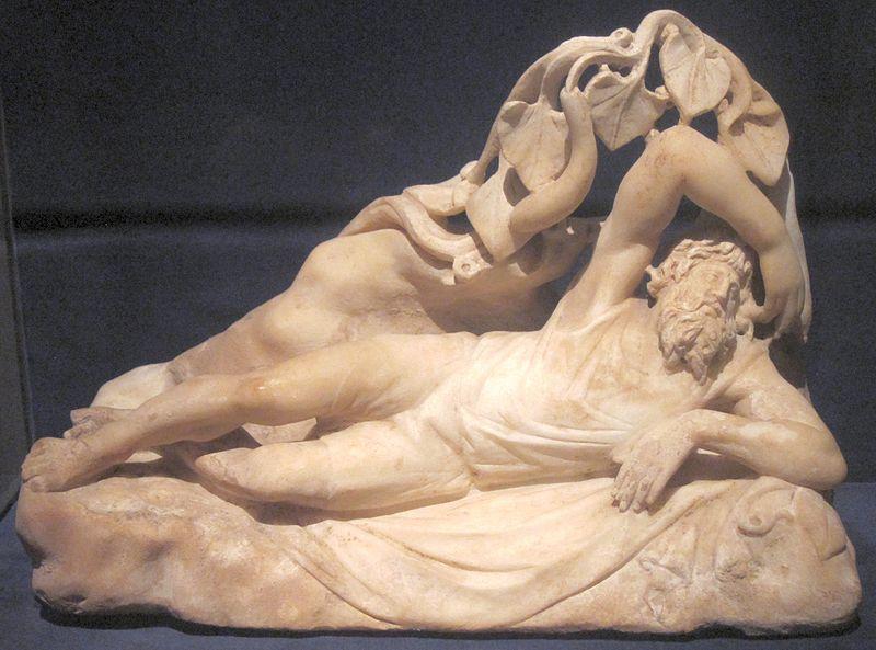 Late third century Roman marble of Jonah