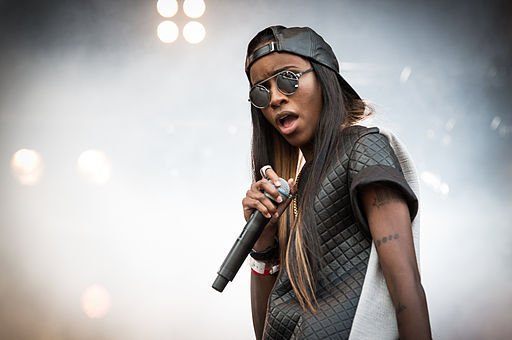 Angel Haze performing at Øyafestivalen in 2013. Haze is not an atheist but expresses skepticism about organized religion.