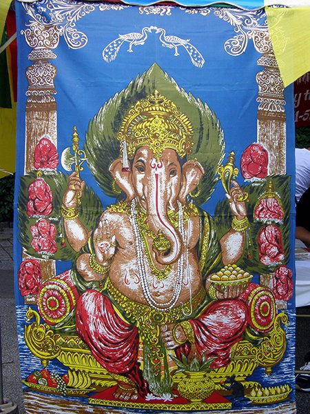 Decorative or artistic depictions of Ganesha are more appropriate than those that have a functional purpose, such as images of him on rugs and bedspreads, according to Rajan Zed, president of Universial Society of Hinduism.