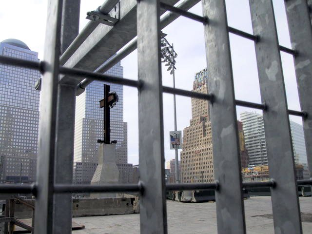 The World Trade Center cross, also known as the Ground Zero cross, is a group of steel beams found amid the debris of the World Trade Center following the September 11, 2001 terrorist attacks.