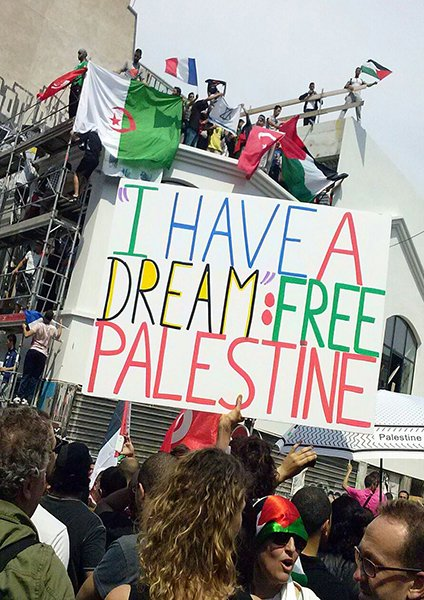A pro-Palestine rally takes place in the Barbes neighborhood of northern Paris.