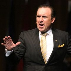 "Rodney Howard-Browne speaks during the ""Celebrate America"" revival in downtown Washington, D.C., on July 15, 2014."