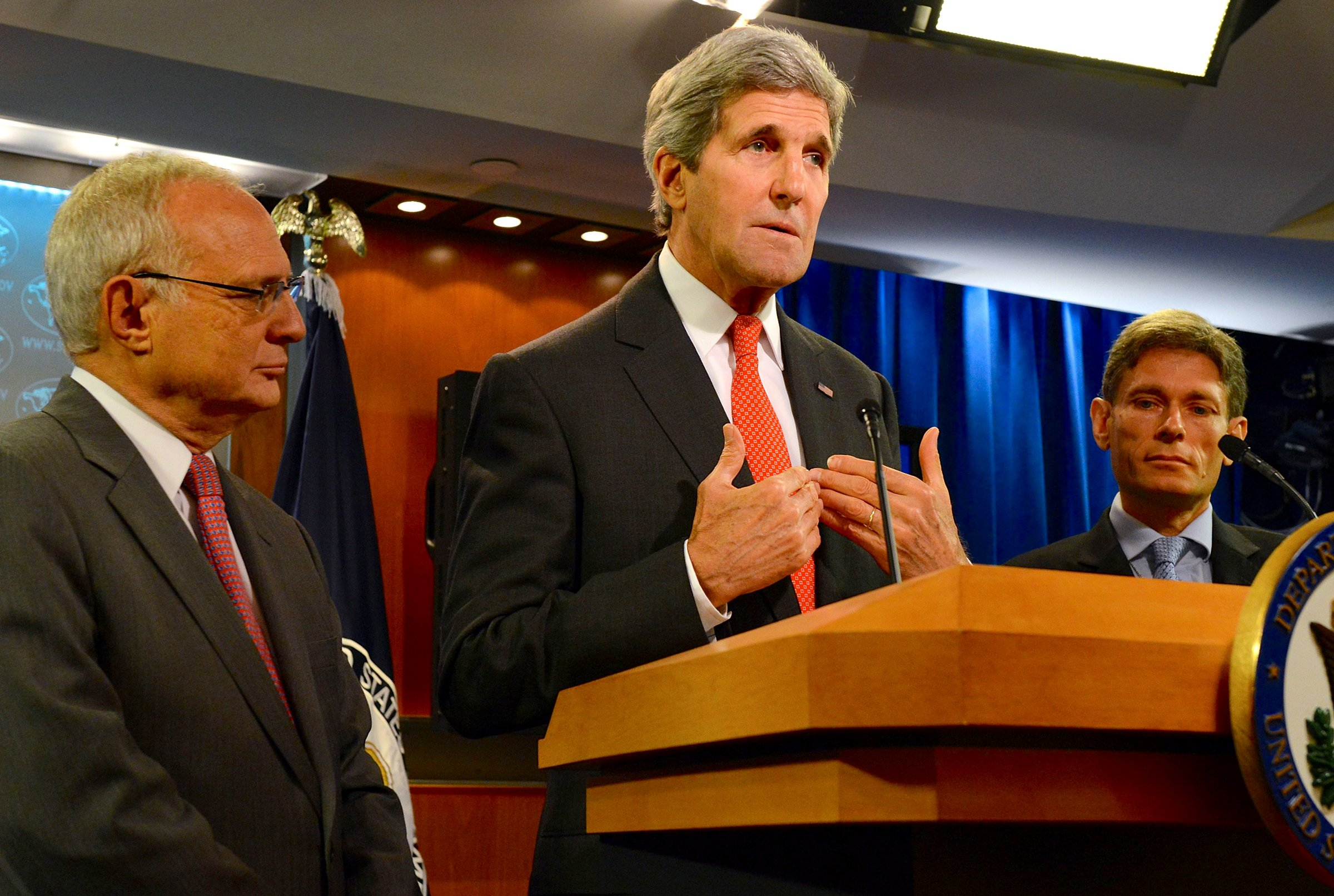 Secretary of State John Kerry at the U.S. Department of State in Washington, D.C., on July 28, 2014. Photo courtesy U.S. Department of State