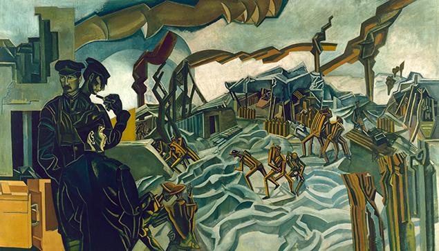 Wyndham Lewis painted