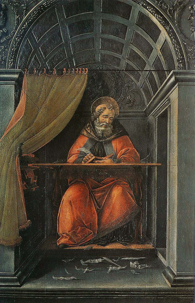 St. Augustine in his study, by Botticelli