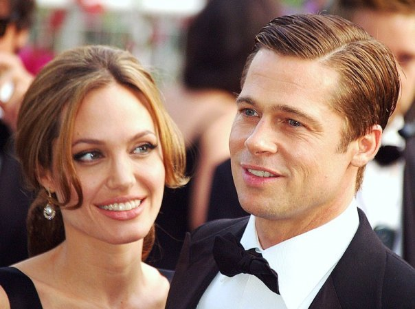 Angelina Jolie and Brad Pitt at the Cannes film festival in 2007.