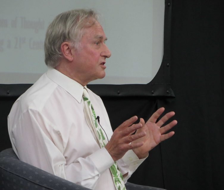 Richard Dawkins addressing the World Humanist Congress on Sunday, Aug. 11, 2014 in Oxford, England. RNS photo by Brian Pellot