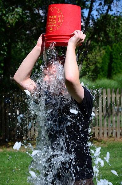 The ALS Ice Bucket Challenge.