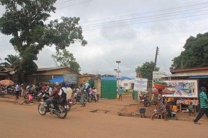 A hospital in Kenema, Sierra Leone, West Africa, where the Ebola virus samples are tested, in June 2014.