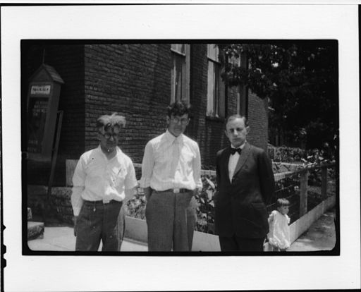 A photograph taken during the time of the Tennessee v. John T. Scopes Trial show, left to right, George Washington Rappleyea, Howard Gale Byrd, and Charles Francis Potter in July, 1925.