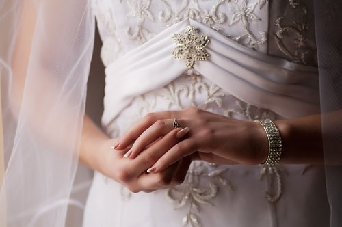 bride and ring