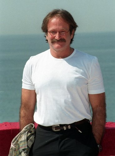 Robin Williams at the 1997 Cannes Film Festival.